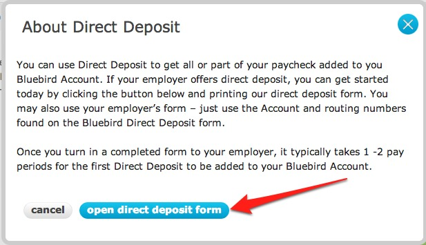 """Amex Bluebird Direct Deposit"""