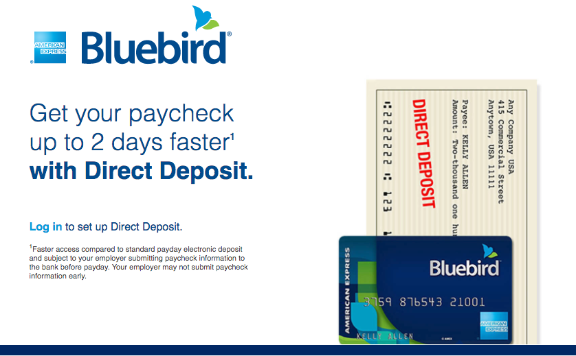 Bluebird Card Direct Deposit - American Express Bluebird