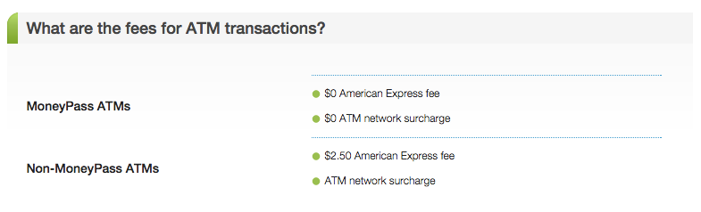 """Bluebird card ATM Fees"""