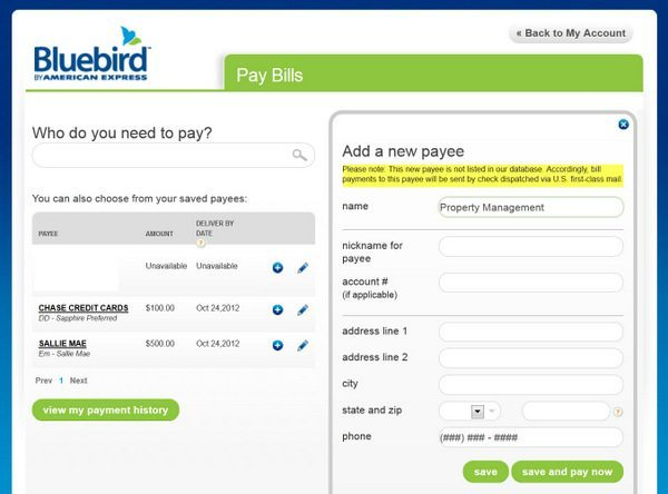"""Bluebird Bill Pay"""