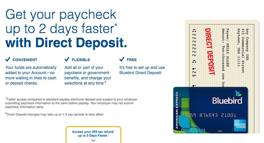 """""""Bluebird Direct Deposit Time"""""""