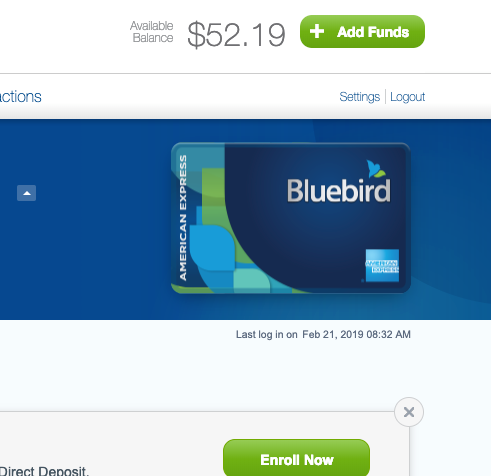 how to check bluebird balance american express bluebird card help. Black Bedroom Furniture Sets. Home Design Ideas