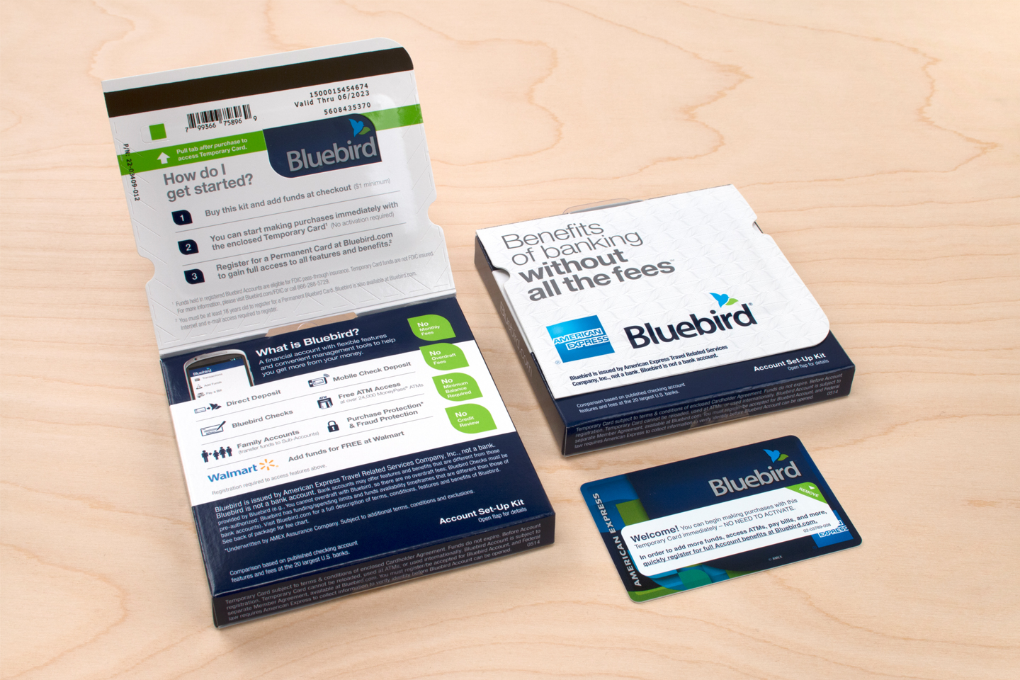 """Bluebird Temporary Card"""