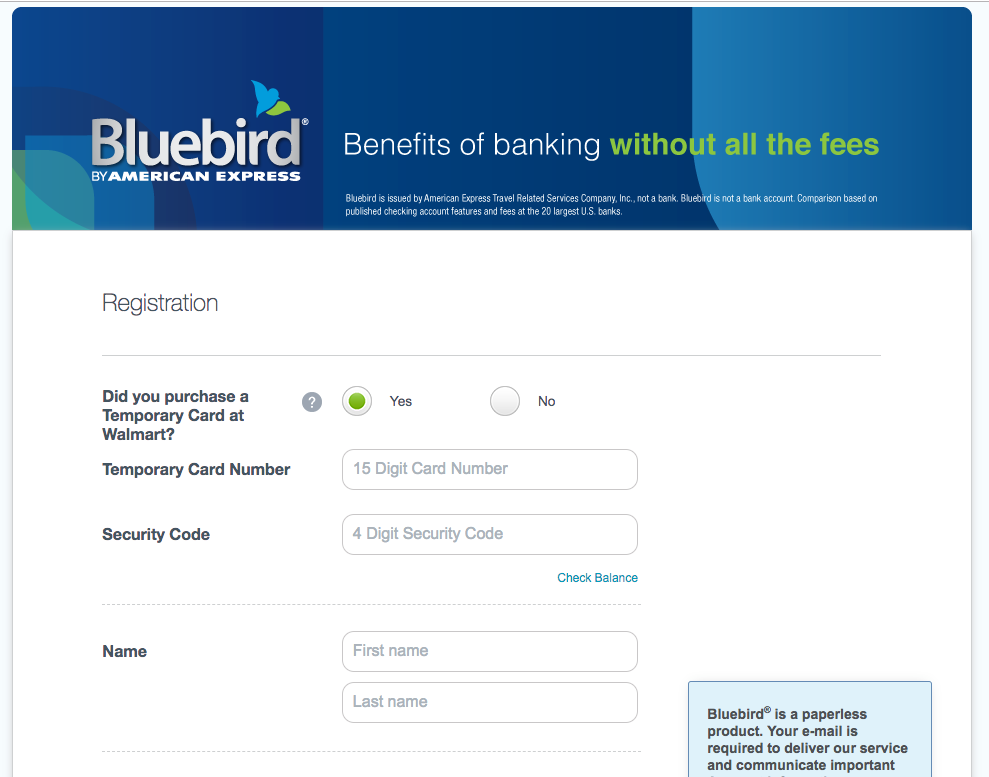 """how to activate your Bluebird card online"""